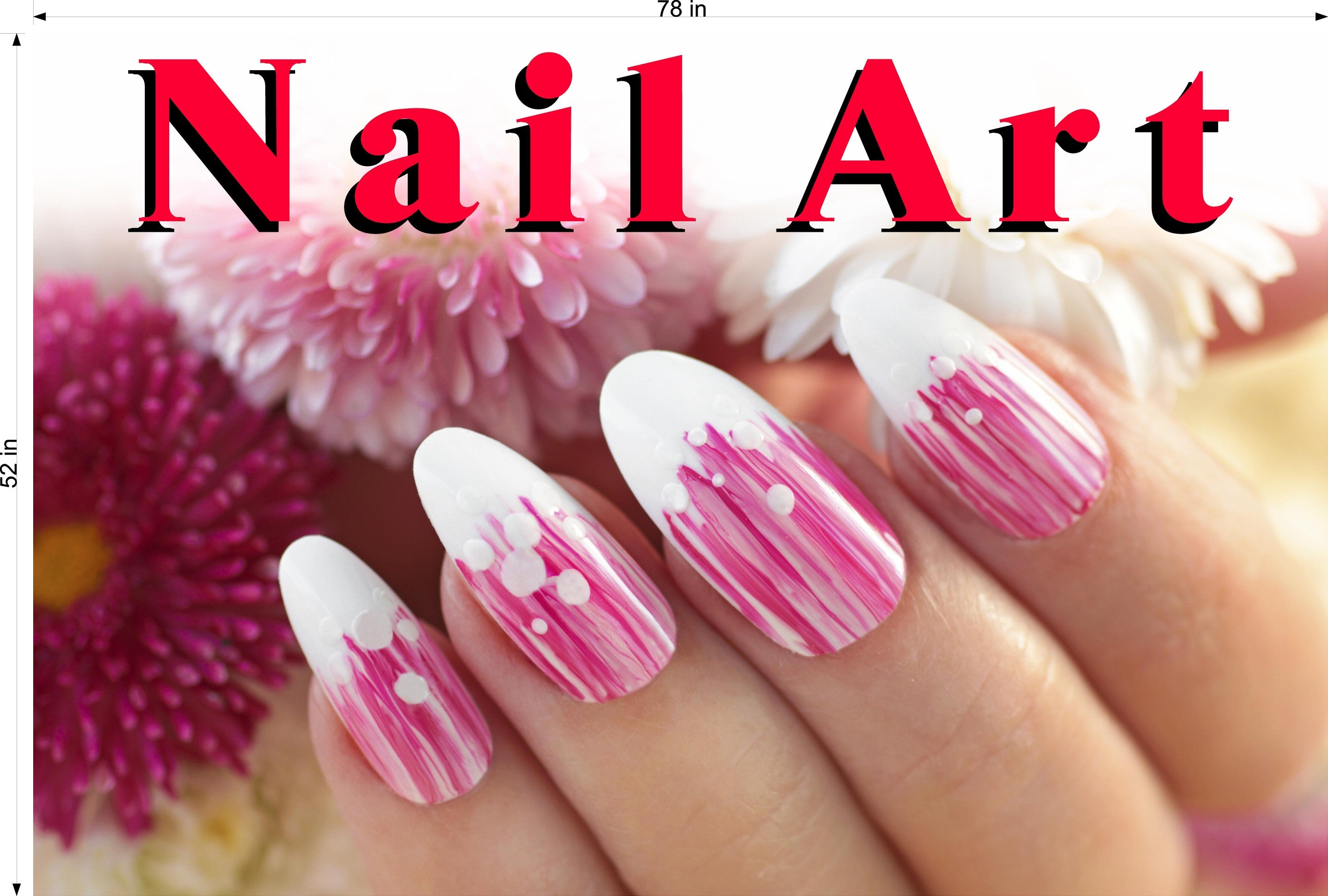 Nail Art 10 Photo-Realistic Paper Poster Premium Matte Interior Inside Sign Advertising Marketing Wall Window Non-Laminated Horizontal