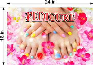 Pedicure 29 Wallpaper Fabric Poster Decal with Adhesive Backing Wall Sticker Decor Indoors Interior Sign Horizontal