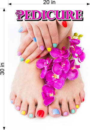 Pedicure 22 Wallpaper Fabric Poster Decal with Adhesive Backing Wall Sticker Decor Indoors Interior Sign Vertical