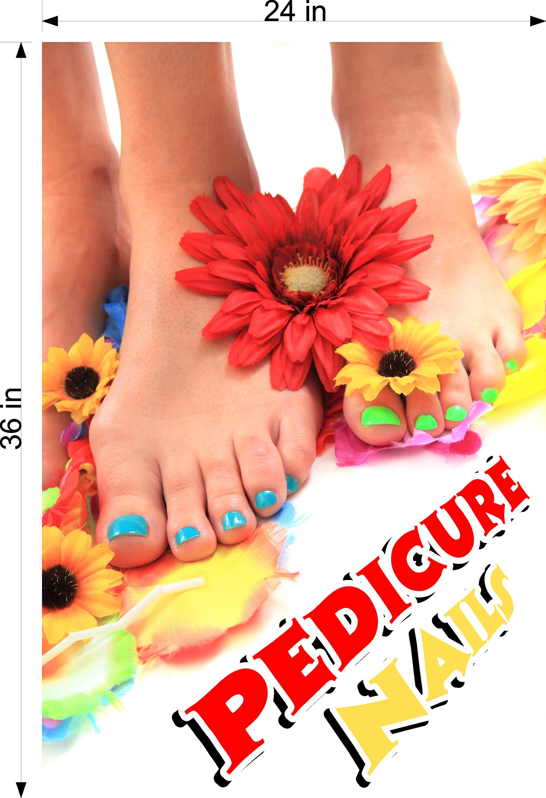 Pedicure 27 Wallpaper Fabric Poster Decal with Adhesive Backing Wall Sticker Decor Indoors Interior Sign Vertical