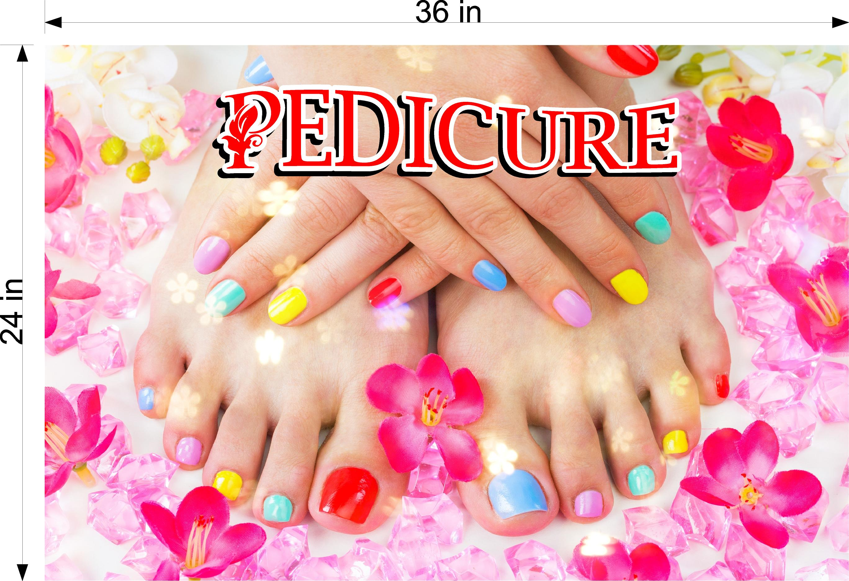 Pedicure 29 Photo-Realistic Paper Poster Premium Matte Interior Inside Sign Advertising Marketing Wall Window Non-Laminated Horizontal