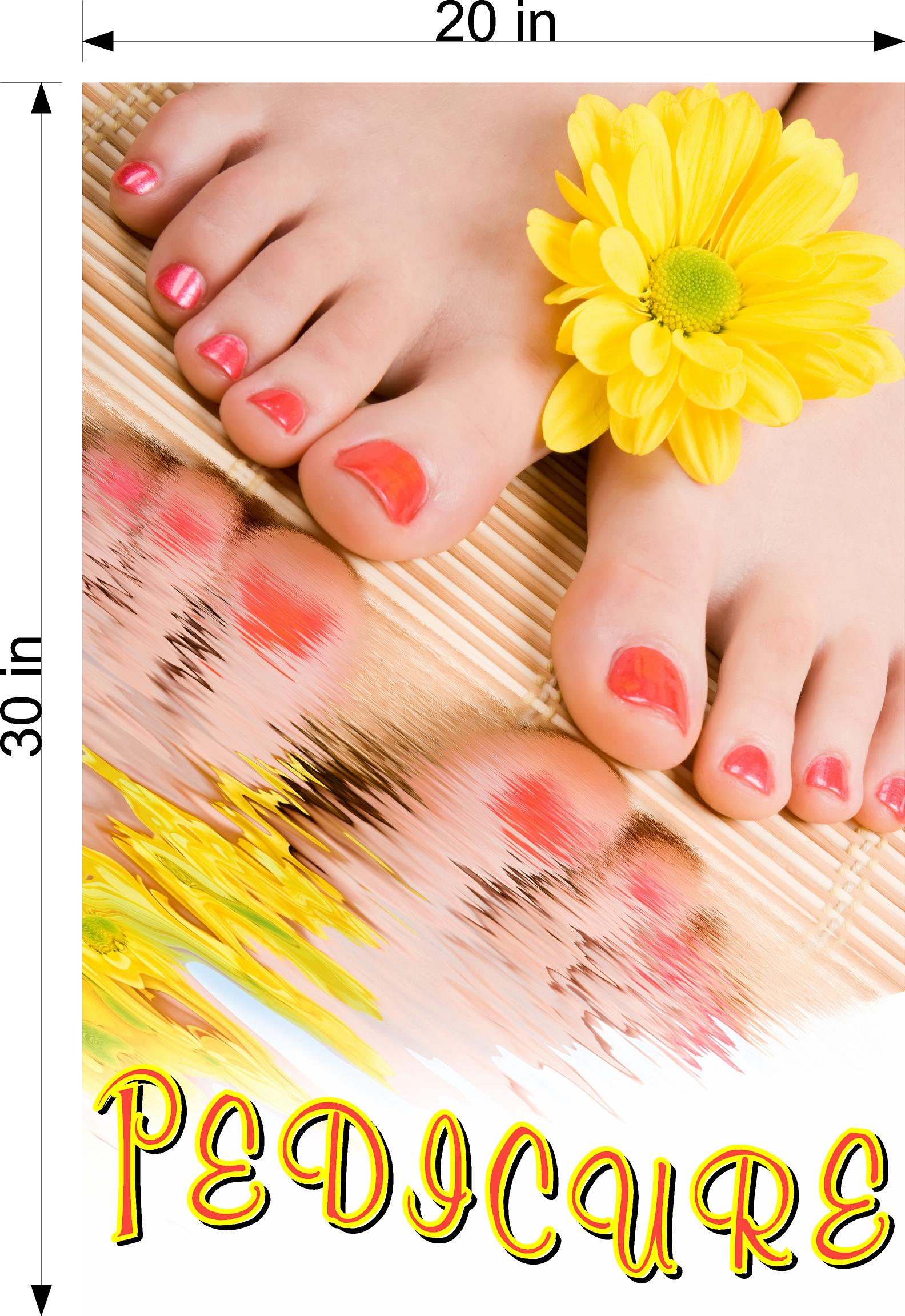Pedicure 26 Photo-Realistic Paper Poster Premium Matte Interior Inside Sign Advertising Marketing Wall Window Non-Laminated Vertical