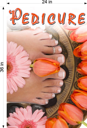 Pedicure 25 Photo-Realistic Paper Poster Premium Matte Interior Inside Sign Advertising Marketing Wall Window Non-Laminated Vertical