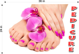 Pedicure 20 Photo-Realistic Paper Poster Premium Matte Interior Inside Sign Advertising Marketing Wall Window Non-Laminated Horizontal