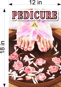 Pedicure 11 Wallpaper Poster Decal with Adhesive Backing Wall Sticker Decor Indoors Interior Sign Vertical