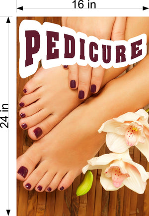 Pedicure 10 Wallpaper Poster Decal with Adhesive Backing Wall Sticker Decor Indoors Interior Sign Vertical