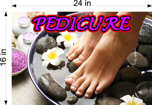 Pedicure 03 Photo-Realistic Paper Poster Premium Matte Interior Inside Sign Advertising Marketing Wall Window Non-Laminated Horizontal