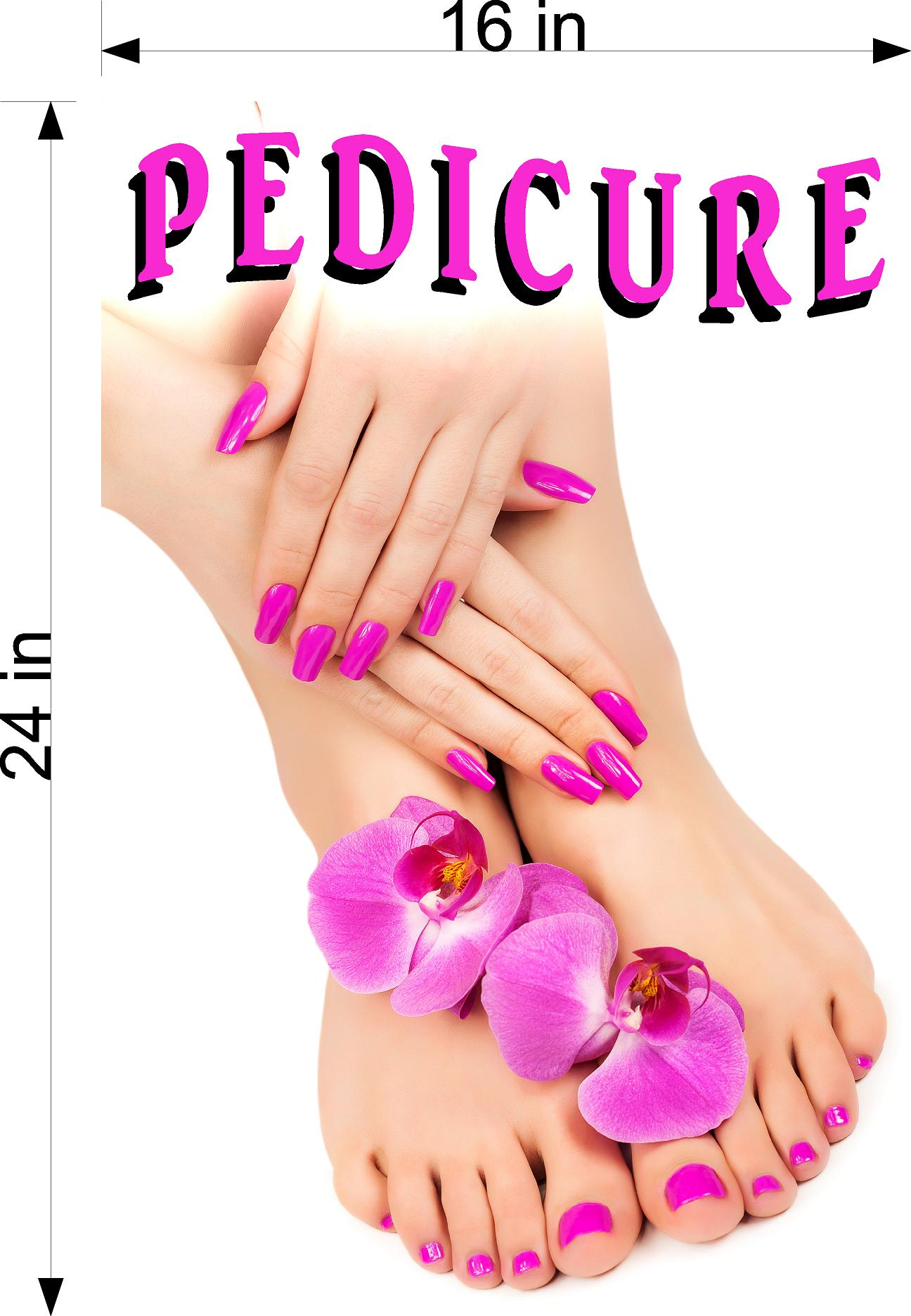 Pedicure 09 Photo-Realistic Paper Poster Premium Matte Interior Inside Sign Advertising Marketing Wall Window Non-Laminated Vertical