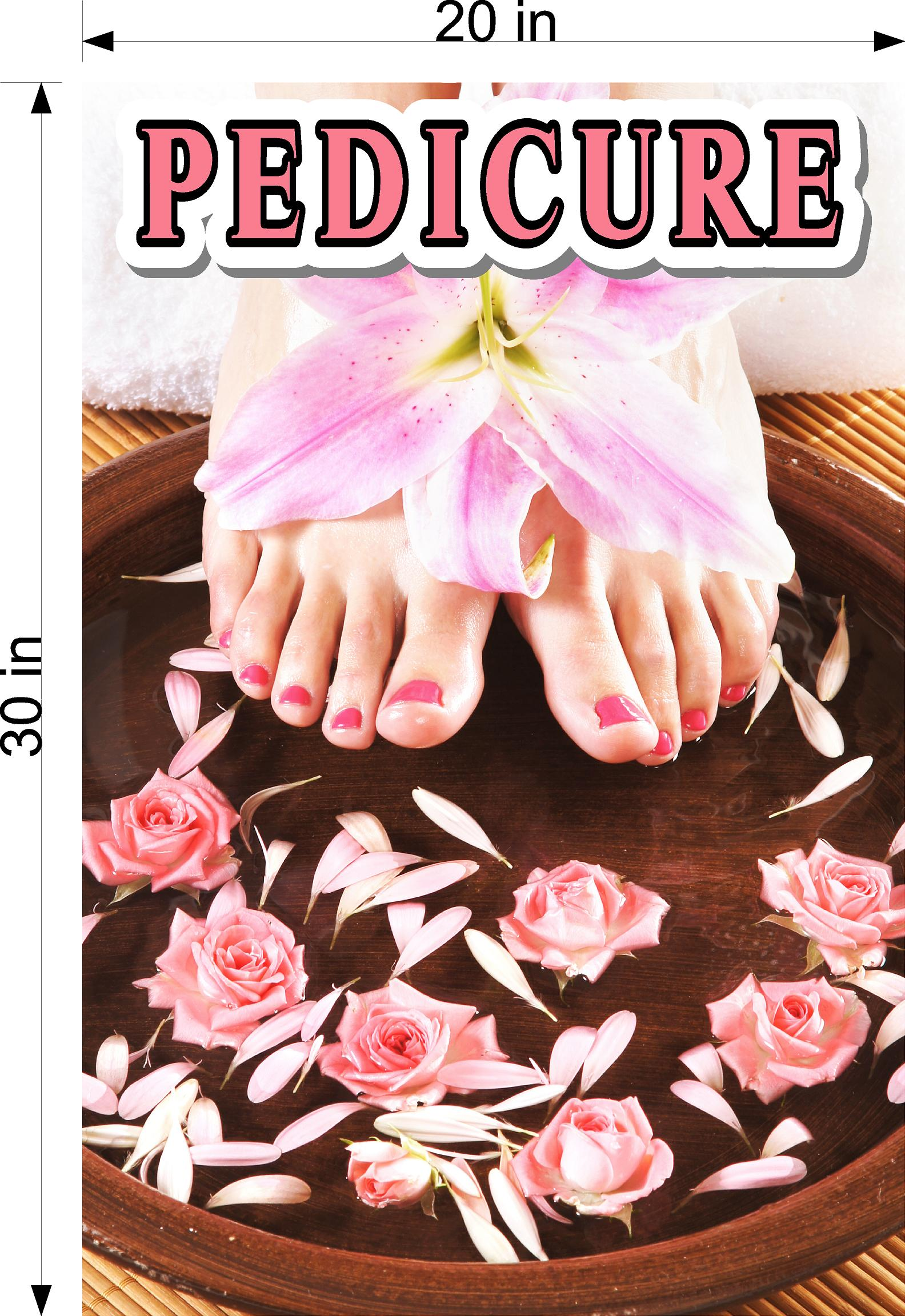 Pedicure 11 Photo-Realistic Paper Poster Premium Matte Interior Inside Sign Advertising Vertical  Marketing Wall Window Non-Laminated