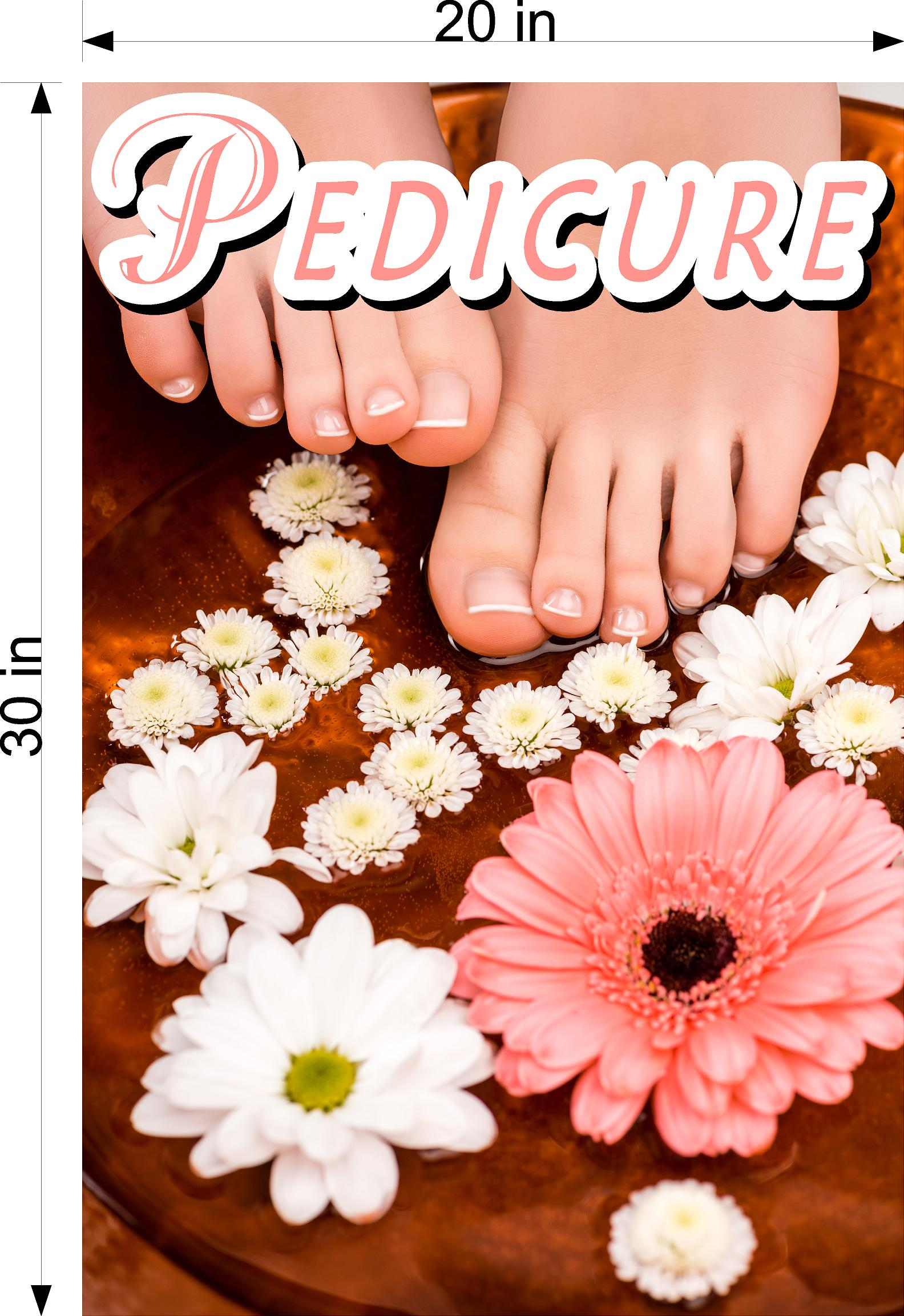 Pedicure 16 Photo-Realistic Paper Poster Premium Matte Interior Inside Sign Advertising Marketing Wall Window Non-Laminated Vertical