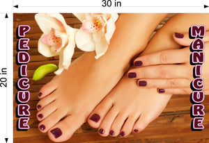 Pedicure & Manicure 02 Photo-Realistic Paper Poster Premium Matte Interior Inside Sign Adverting Marketing Wall Window Non-Laminated Horizontal
