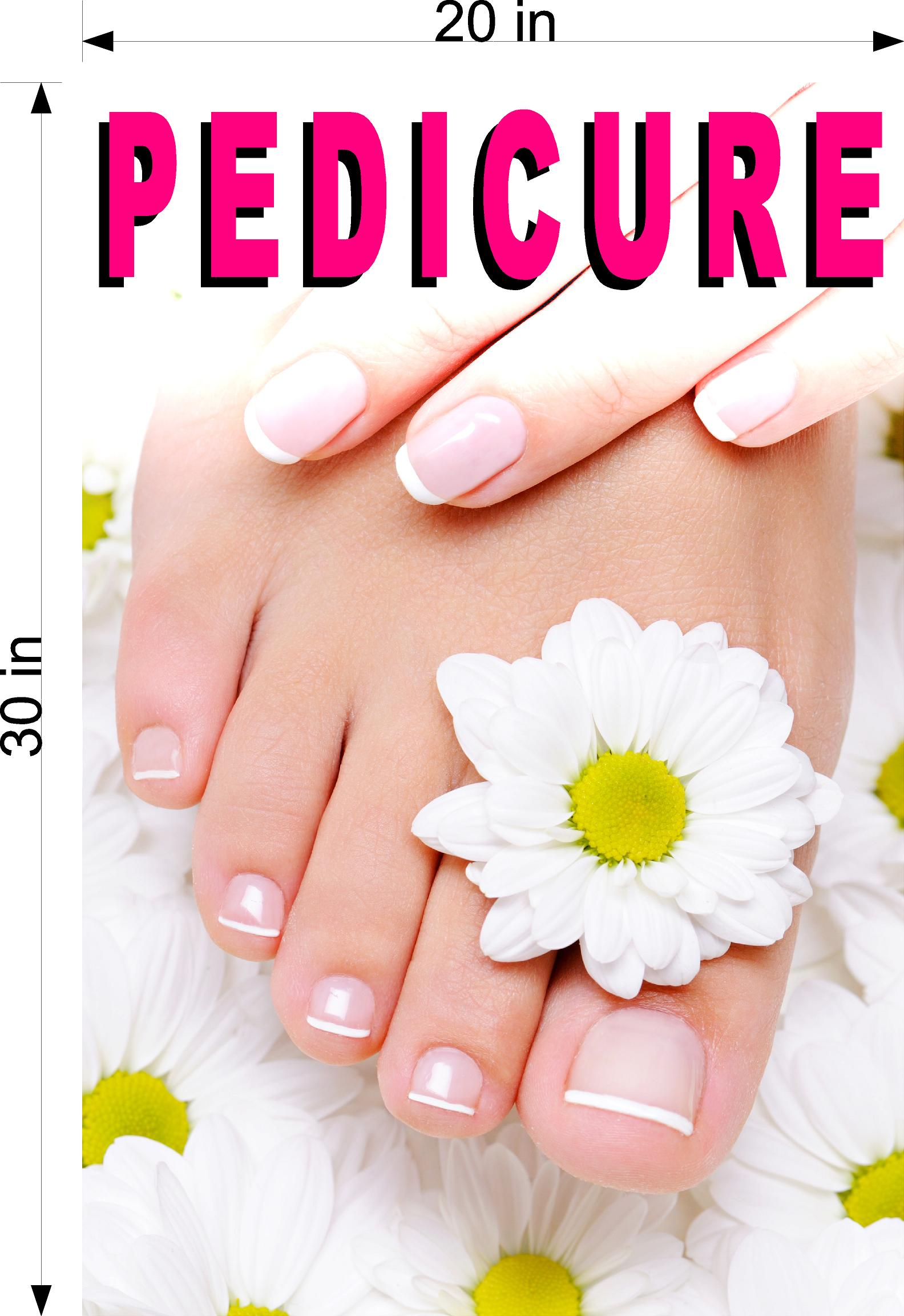Pedicure 06 Wallpaper Poster Decal with Adhesive Backing Wall Sticker Decor Indoors Interior Sign Vertical