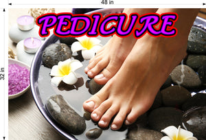 Pedicure 03 Wallpaper Poster Decal with Adhesive Backing Wall Sticker Decor Indoors Interior Sign Horizontal