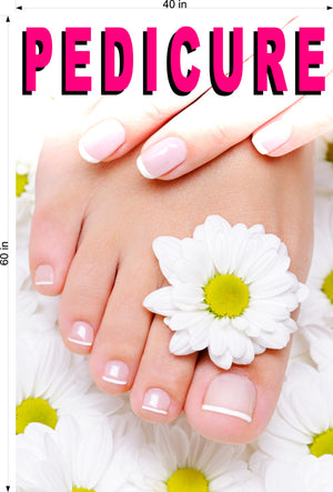 Pedicure 06 Photo-Realistic Paper Poster Premium Matte Interior Inside Sign Advertising Marketing Wall Window Non-Laminated Vertical