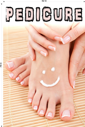 Pedicure 15 Photo-Realistic Paper Poster Premium Matte Interior Inside Sign Advertising Marketing Wall Window Non-Laminated Vertical