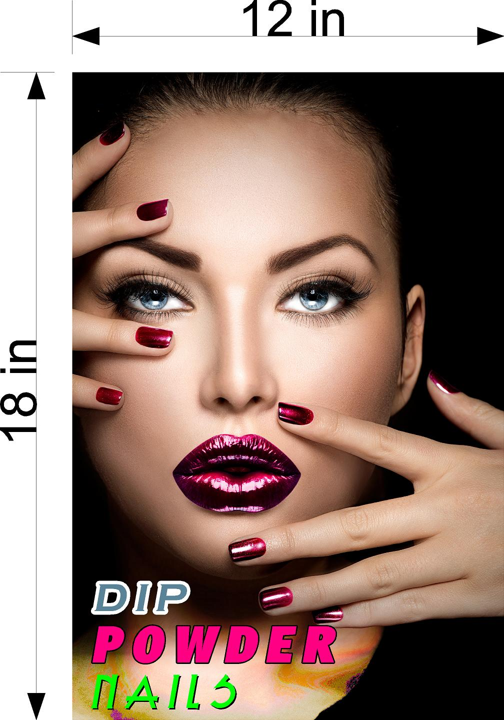 Dip Powder 02 Wallpaper Poster Decal with Adhesive Backing Wall Sticker Decor Nail Salon Sign Vertical