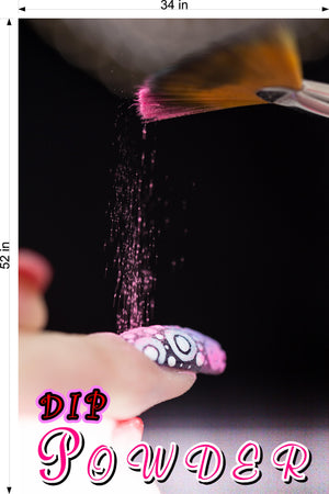 Dip Powder 01 Wallpaper Poster Decal with Adhesive Backing Wall Sticker Decor Nail Salon Sign Vertical