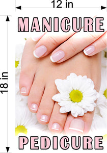 Pedicure & Manicure 15 Wallpaper Poster Decal with Adhesive Backing Wall Sticker Decor Indoors Interior Sign Vertical