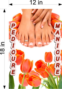 Pedicure & Manicure 16 Wallpaper Poster Decal with Adhesive Backing Wall Sticker Decor Indoors Interior Sign Vertical