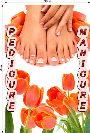 Pedicure & Manicure 16 Photo-Realistic Paper Poster Premium Matte Interior Inside Sign Adverting Marketing Wall Window Non-Laminated Vertical