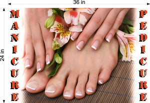 Pedicure & Manicure 13 Photo-Realistic Paper Poster Premium Matte Interior Inside Sign Advertising Marketing Wall Window Non-Laminated Horizontal