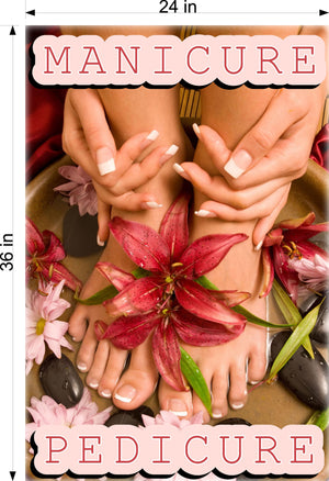 Pedicure & Manicure 14 Photo-Realistic Paper Poster Premium Matte Interior Inside Sign Advertising Marketing Wall Window Non-Laminated Vertical