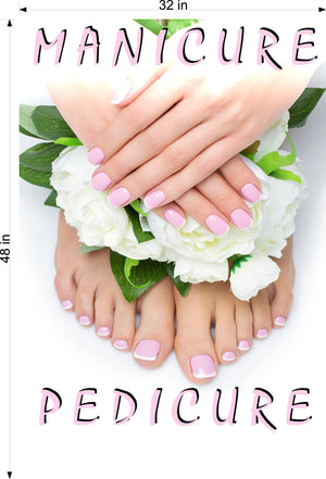 Pedicure & Manicure 11 Wallpaper Poster Decal with Adhesive Backing Wall Sticker Decor Indoors Interior Sign Vertical