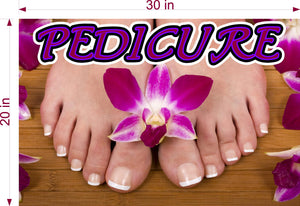 Pedicure 04 Wallpaper Poster Decal with Adhesive Backing Wall Sticker Decor Indoors Interior Sign Horizontal