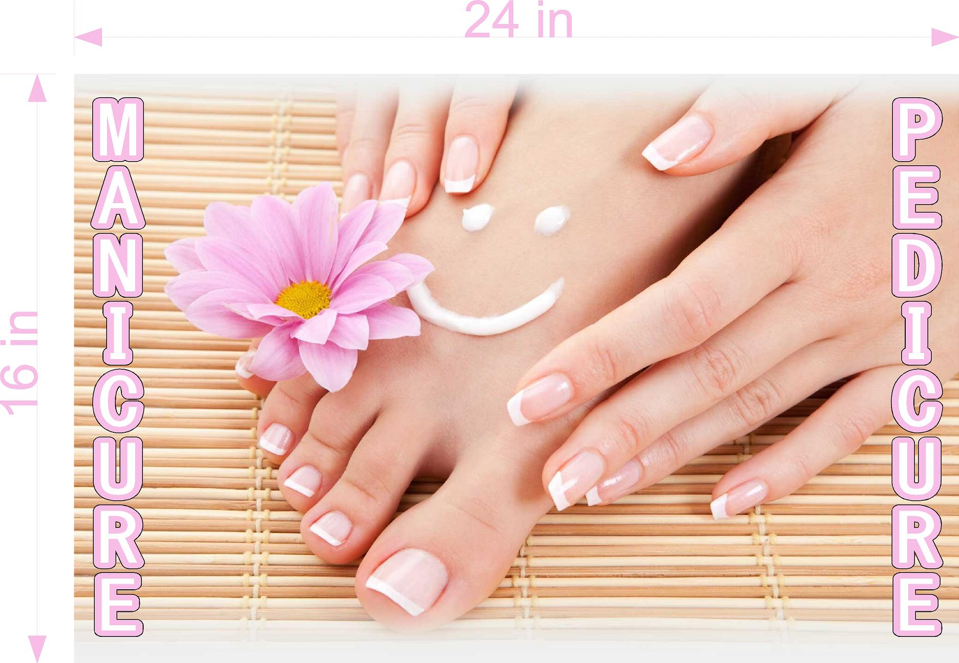 Pedicure & Manicure 01 Photo-Realistic Paper Poster Premium Matte Interior Inside Sign Adverting Marketing Wall Window Non-Laminated Horizontal