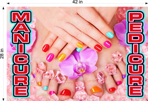 Pedicure & Manicure 03 Wallpaper Poster Decal with Adhesive Backing Wall Sticker Decor Indoors Interior Sign Horizontal