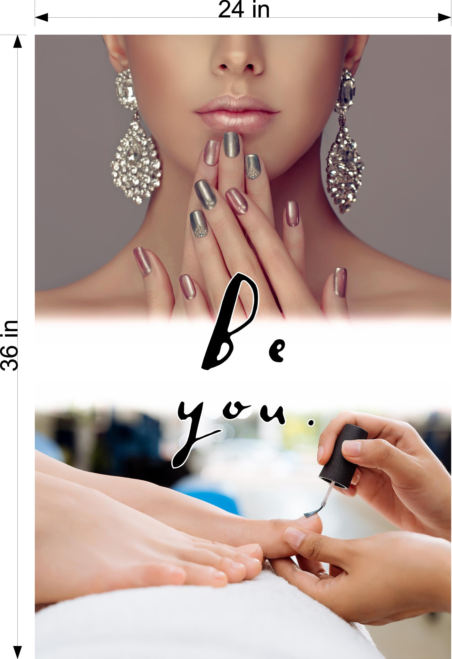 Quote 24 Photo-Realistic Paper Poster Matte Interior Inside Sign Wall Window Non-Laminated Be You Vertical