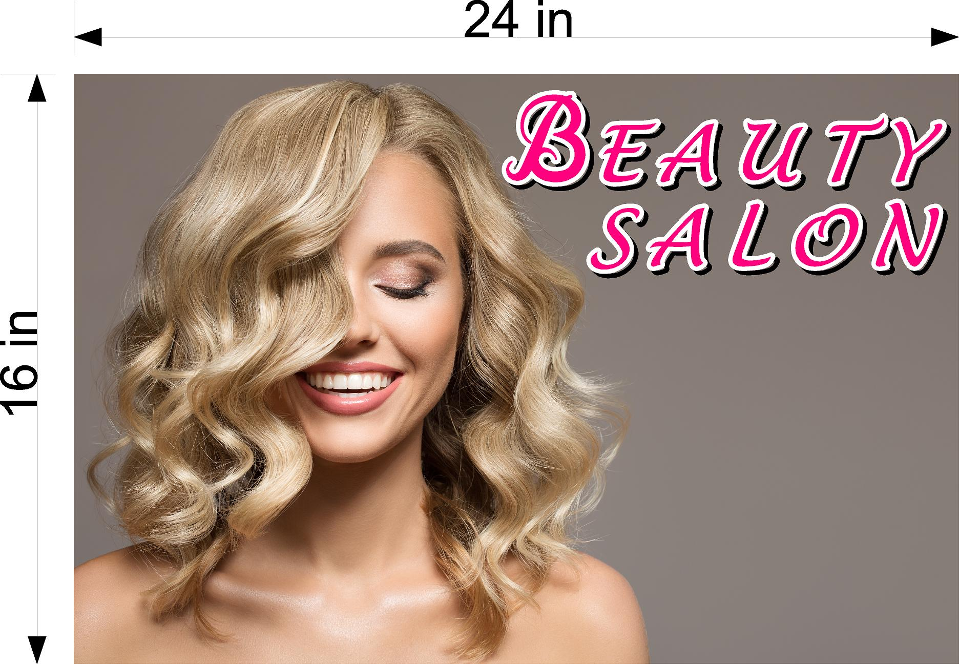 Hair Salon 10 Photo-Realistic Paper Poster Matte Interior Inside Sign Non-Laminated Horizontal