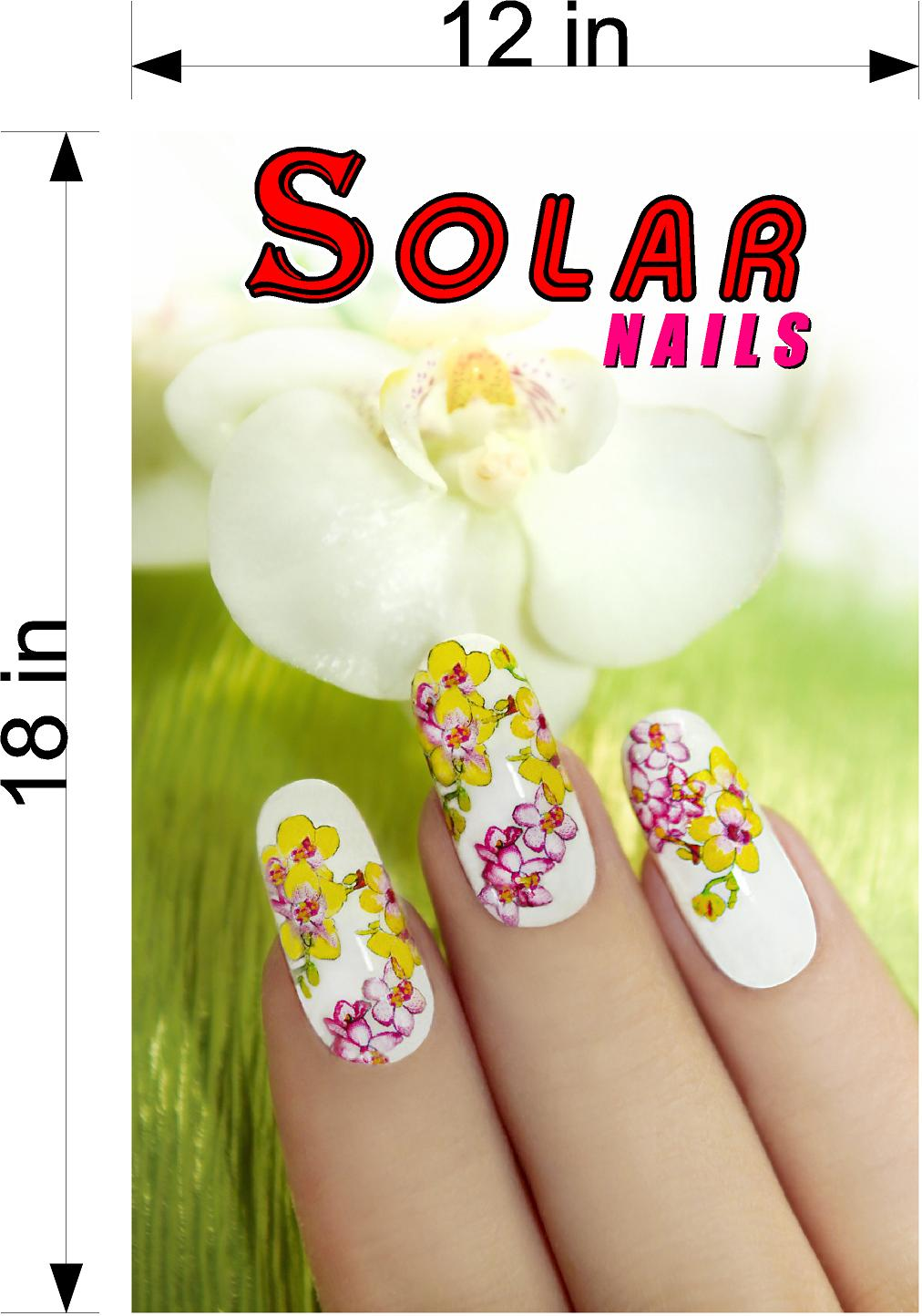 Solar 01 Wallpaper Fabric Poster Decal with Adhesive Backing Wall Sticker Decor Nail Salon Sign Vertical