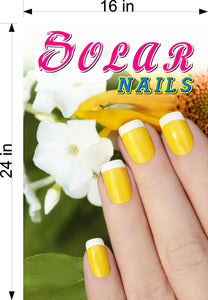 Solar 04 Photo-Realistic Paper Poster Premium Matte Interior Inside Sign Advertising Wall Window Non-Laminated Nail Salon Vertical