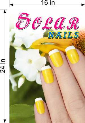 Solar 04 Wallpaper Fabric Poster Decal with Adhesive Backing Wall Sticker Decor Nail Salon Sign Vertical