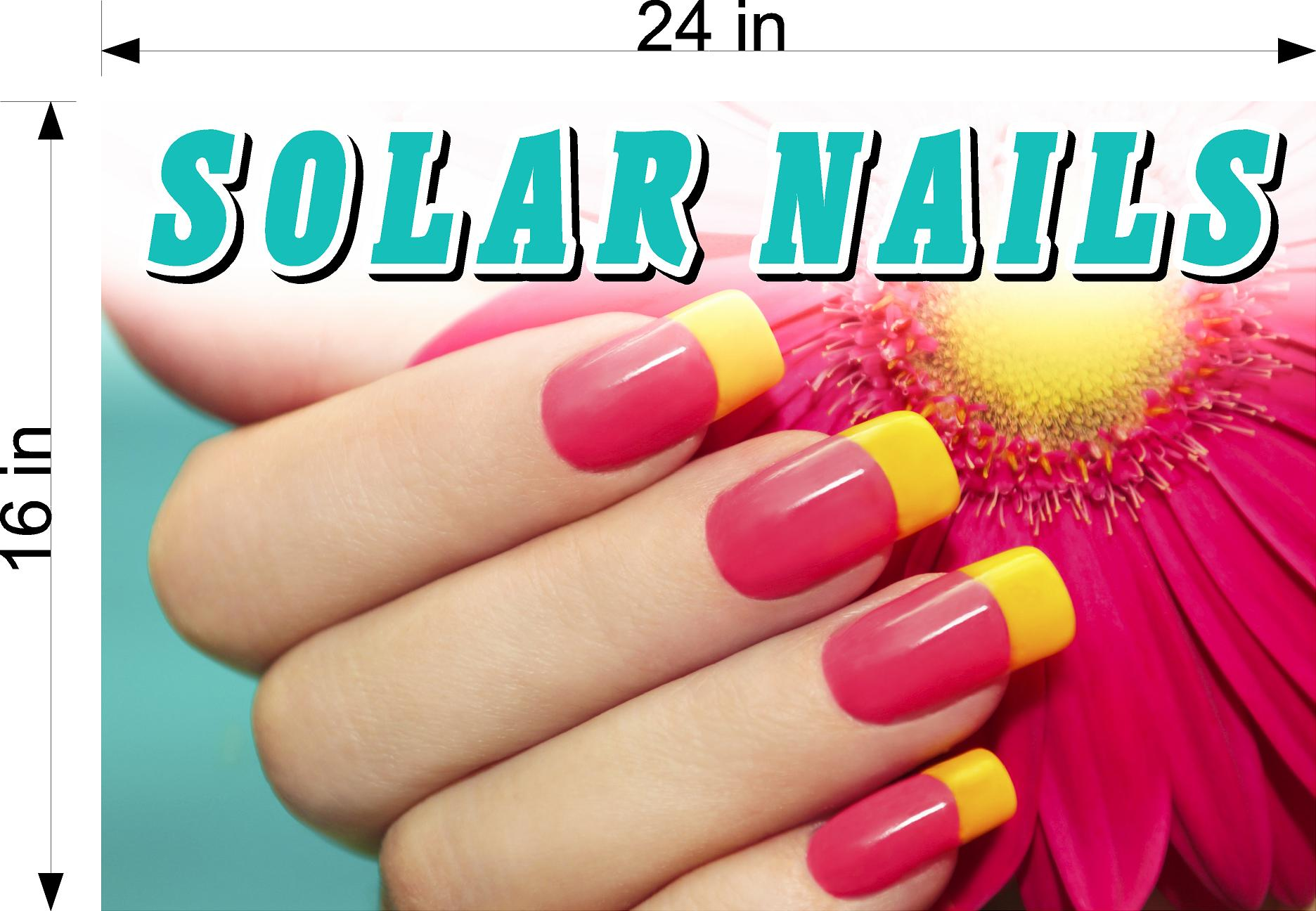 Solar 08 Photo-Realistic Paper Poster Premium Matte Interior Inside Sign Advertising Wall Window Non-Laminated Nail Salon Horizontal