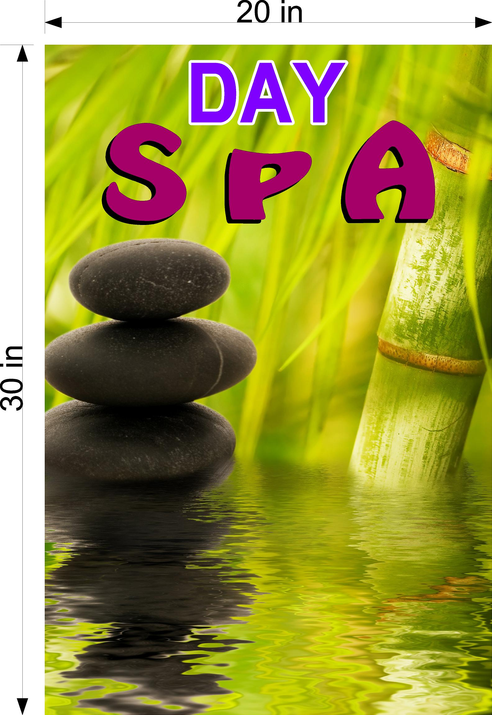 Spa 11 Wallpaper Poster Decal with Adhesive Backing Wall Sticker Decor Indoors Interior Sign Vertical