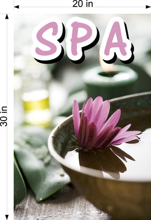 Spa 05 Wallpaper Poster Decal with Adhesive Backing Wall Sticker Decor Indoors Interior Sign Vertical