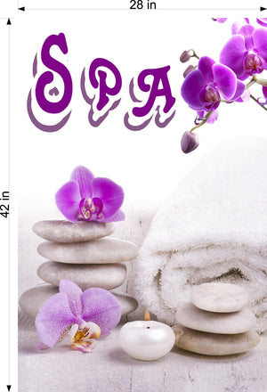 Spa 02 Wallpaper Poster Decal with Adhesive Backing Wall Sticker Decor Indoors Interior Sign Vertical
