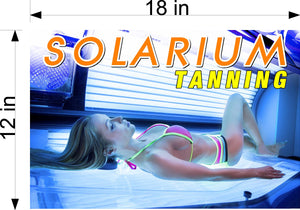 Tanning 07 Wallpaper Poster Decal with Adhesive Backing Wall Sticker Decor Interior Sign Spray Service Solarium Horizontal