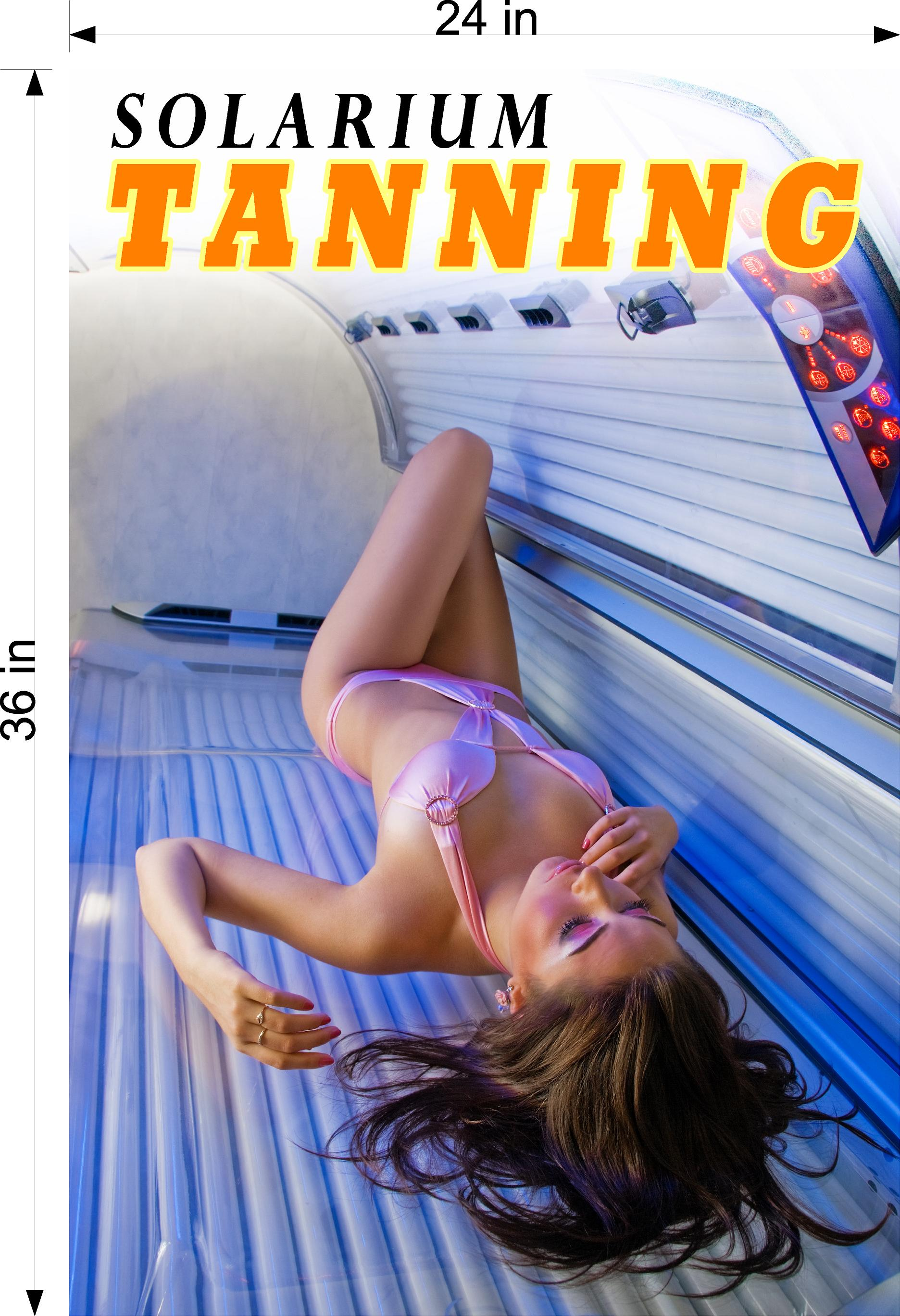 Tanning 03 Photo-Realistic Paper Poster Premium Matte Interior Inside Sign Wall Window Non-Laminated Vertical