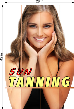 Tanning 01 Photo-Realistic Paper Poster Premium Matte Interior Inside Sign Wall Window Non-Laminated Vertical