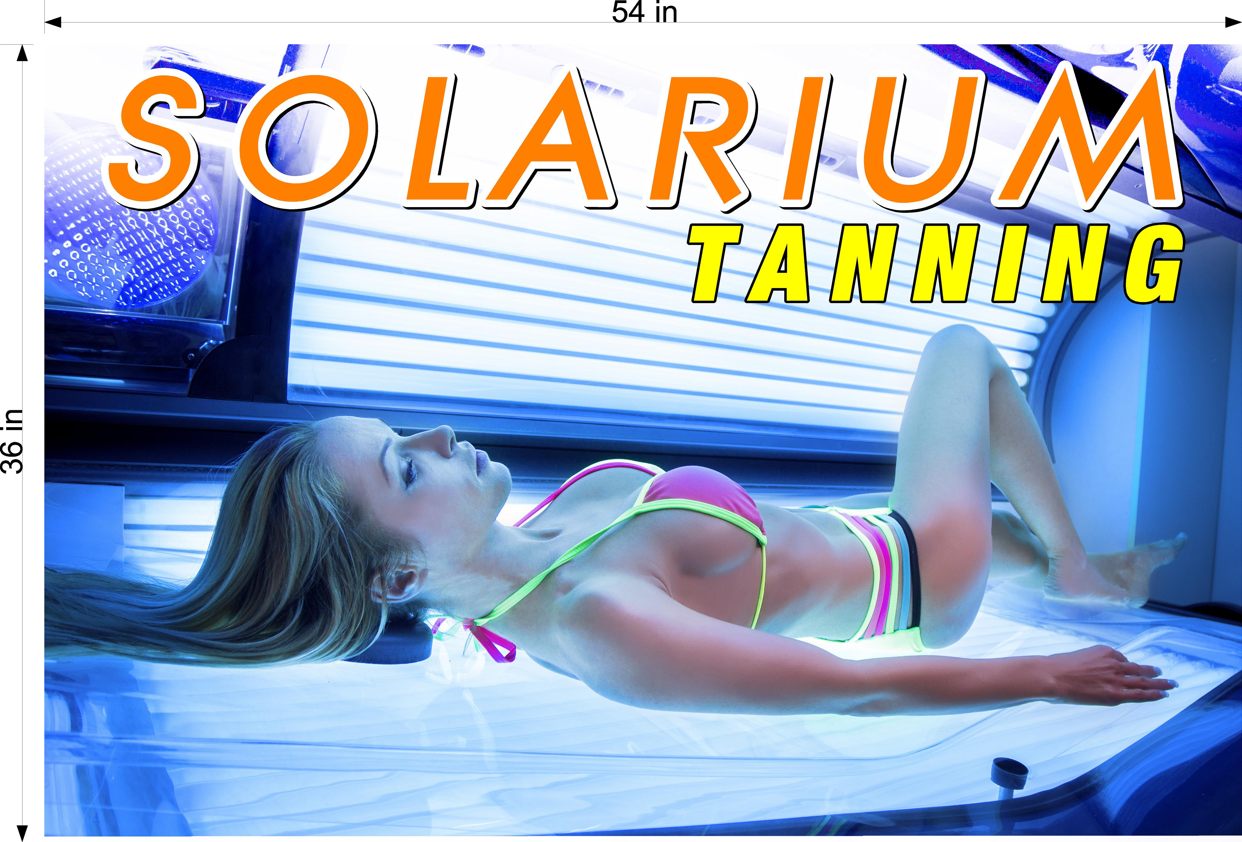 Tanning 07 Perforated Mesh One Way Vision Window Vinyl Nail Salon See-Through Sign Solarium Spray Sun Horizontal