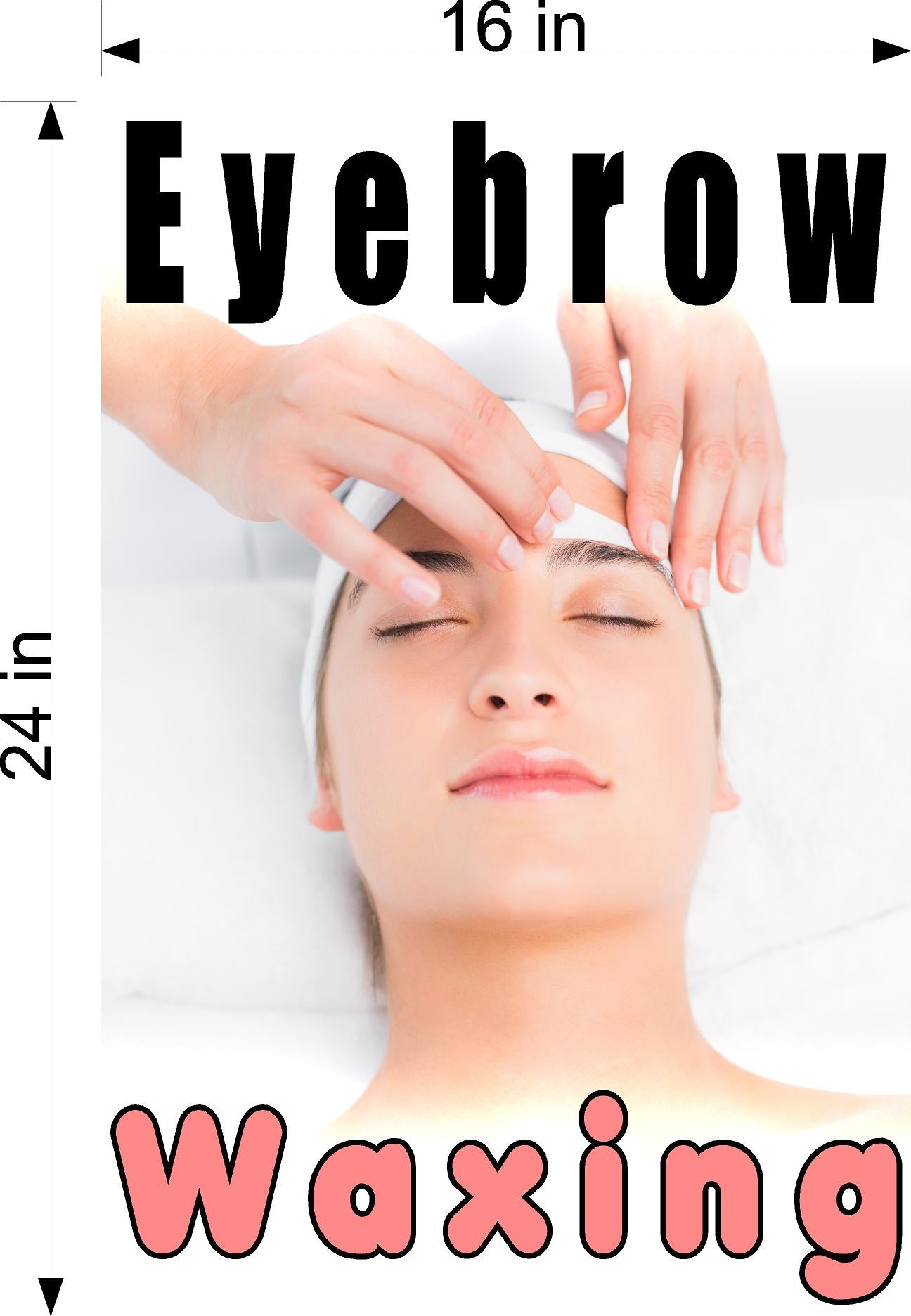 Eyebrows 08 Photo-Realistic Paper Poster Premium Matte Interior Inside Sign Advertising Marketing Wall Window Non-Laminated Waxing Vertical