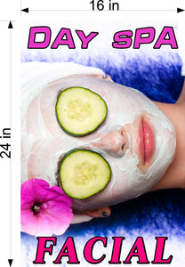 Facial 05 Photo-Realistic Paper Poster Matte Interior Inside Wall Non-Laminated Vertical Day Spa