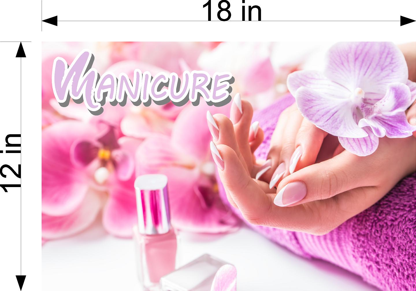 Manicure 05 Wallpaper Poster Decal with Adhesive Backing Wall Sticker Decor Indoors Interior Sign Horizontal