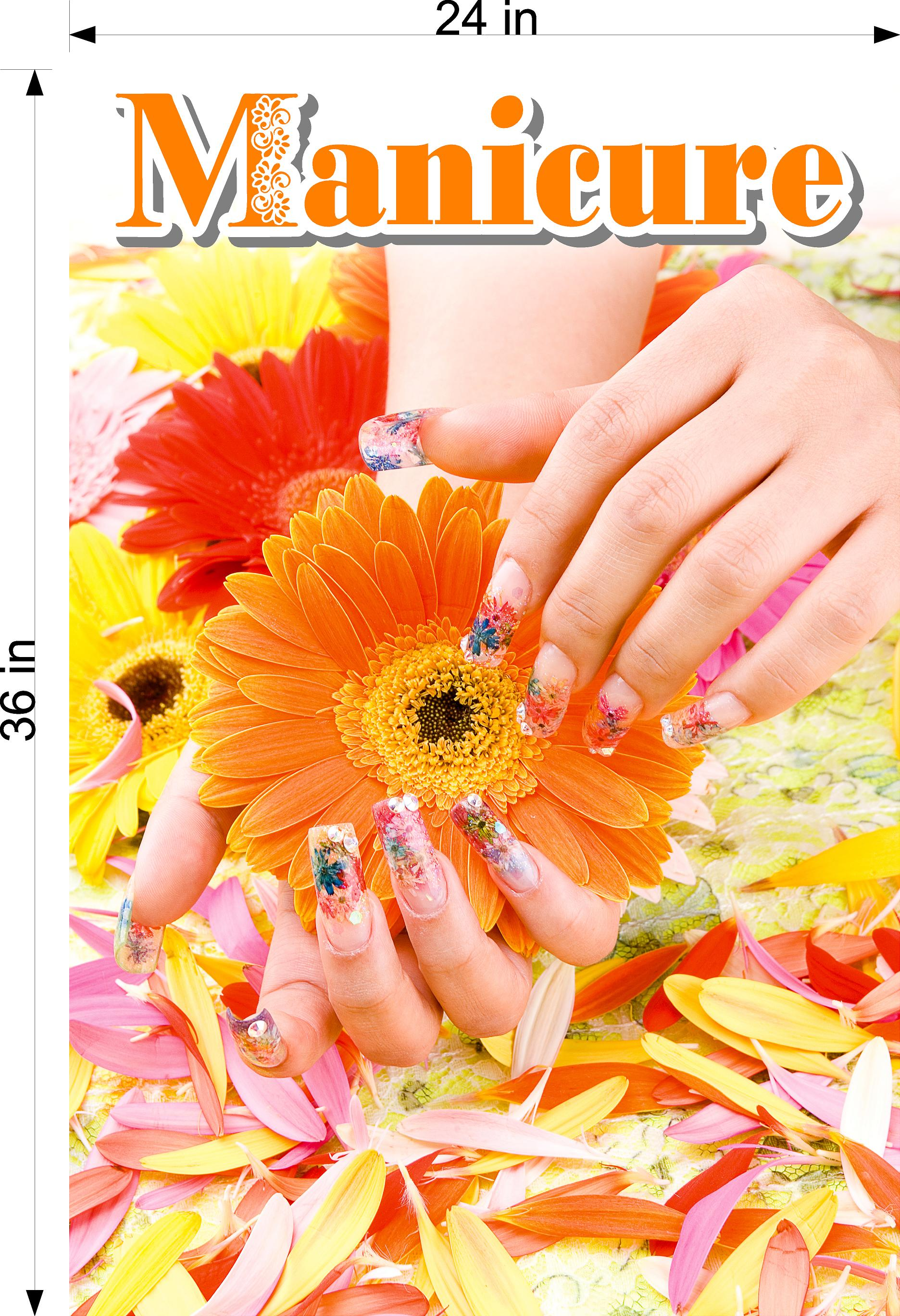 Manicure 12 Photo-Realistic Paper Poster Premium Matte Interior Inside Sign Advertising Marketing Wall Window Non-Laminated Vertical