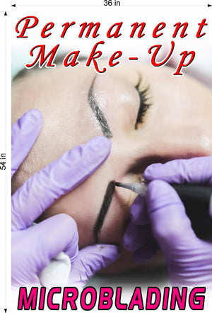 Microblading 05 Photo-Realistic Paper Poster Matte Non-Laminated Permanent Make-Up Vertical