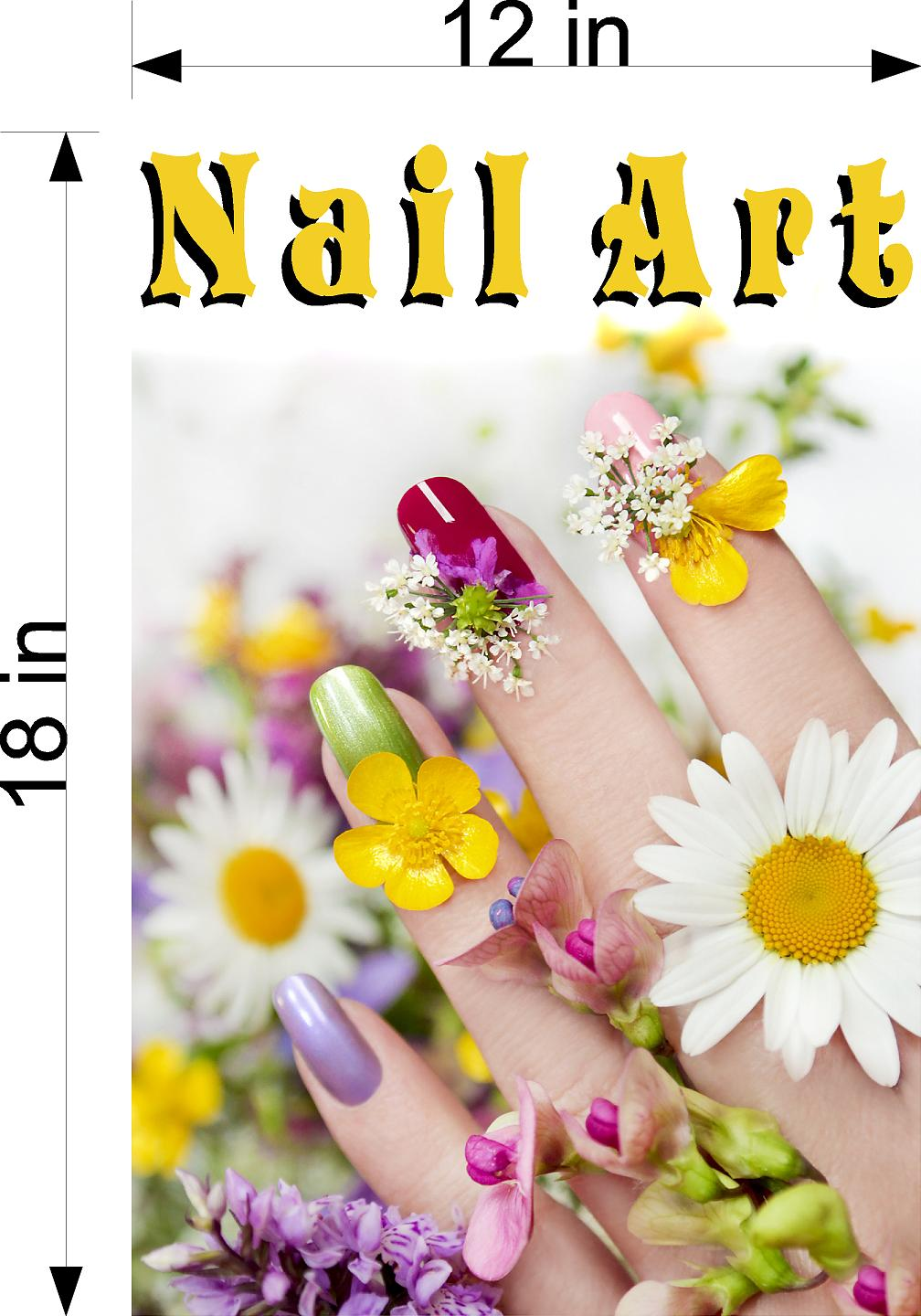 Nail Art 05 Wallpaper Poster Decal with Adhesive Backing Wall Sticker Decor Indoors Interior Sign Vertical