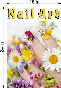 Nail Art 05 Photo-Realistic Paper Poster Premium Matte Interior Inside Sign Advertising Marketing Wall Window Non-Laminated Vertical